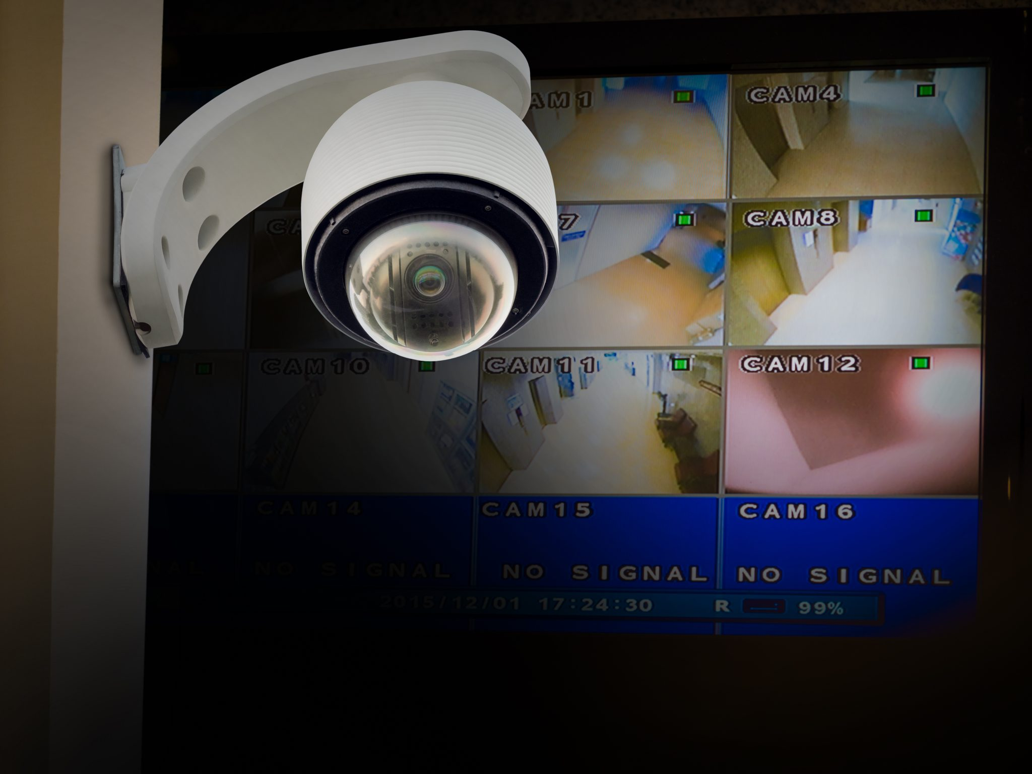 IP Camera on Wall