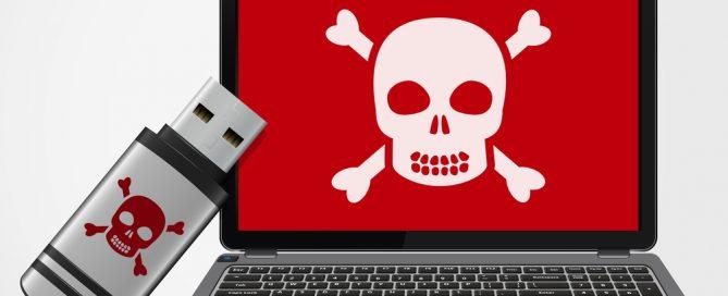 Virus on Laptop